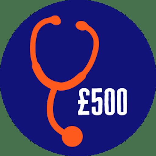 Raised £500