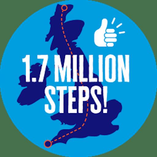 1.7 million steps