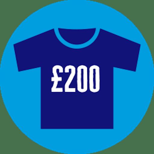 Raised £200