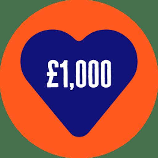 Raised £1000