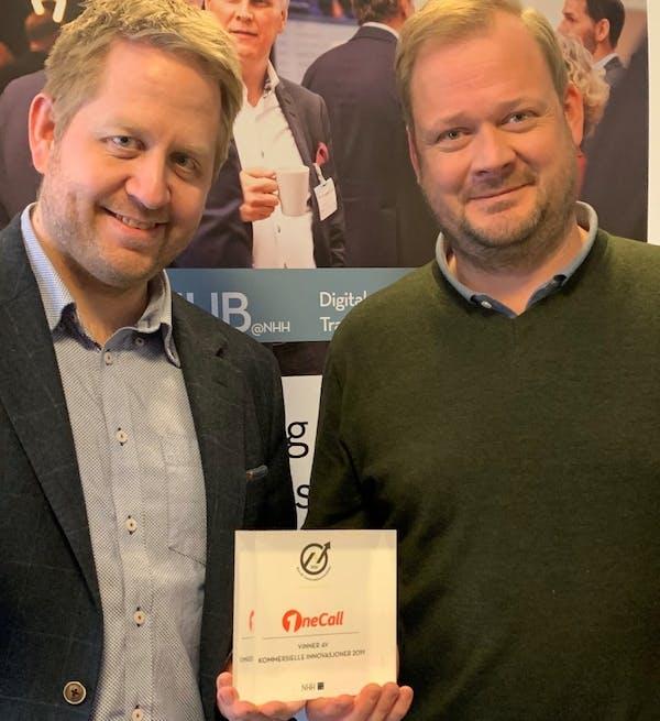 Fungerende OneCall-sjef Frode Elverum og Salgs- og Markedsdirektør Albert Arli.