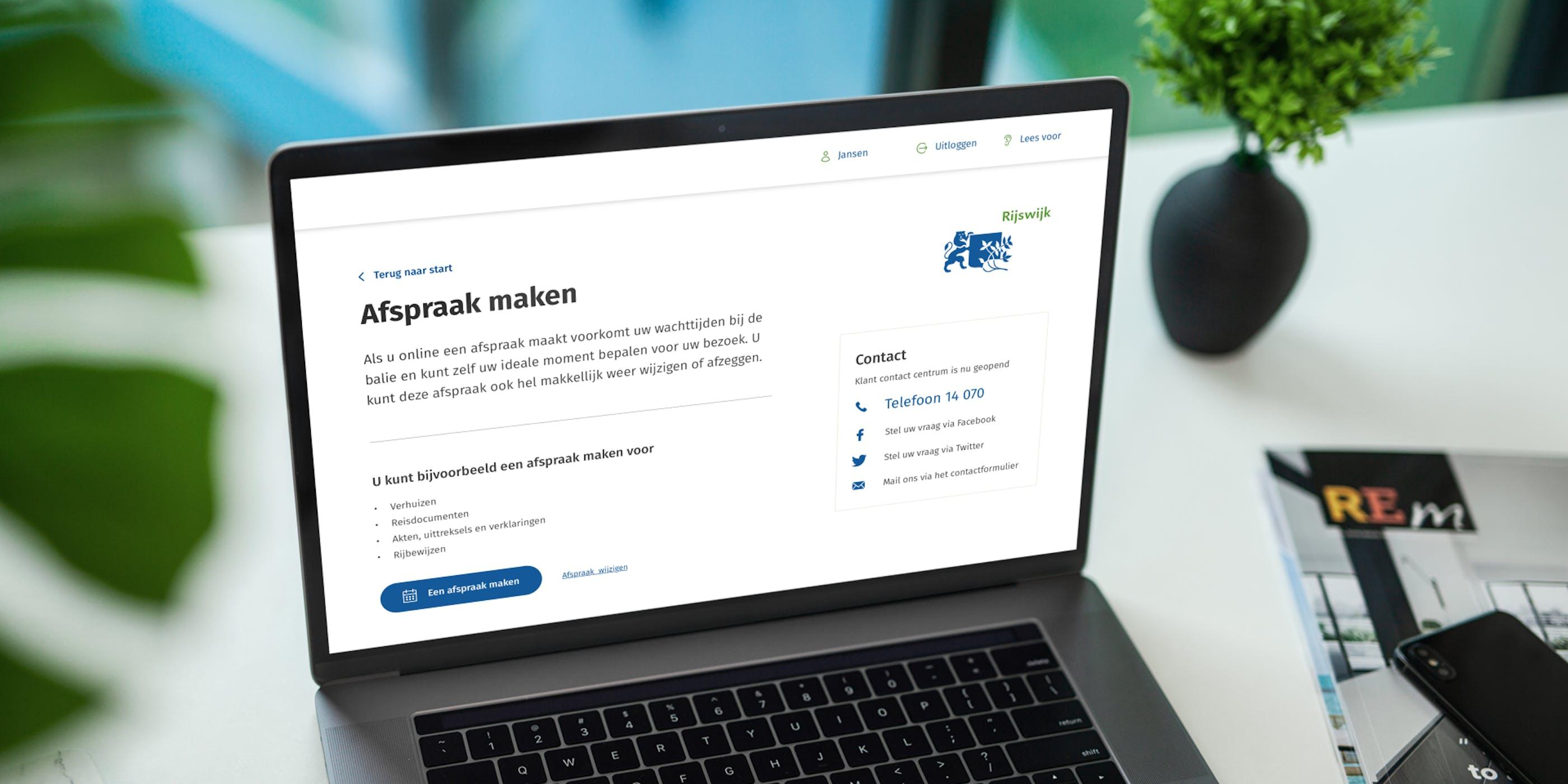 nieuwe burger service portaal van Gemeente Rijswijk is live