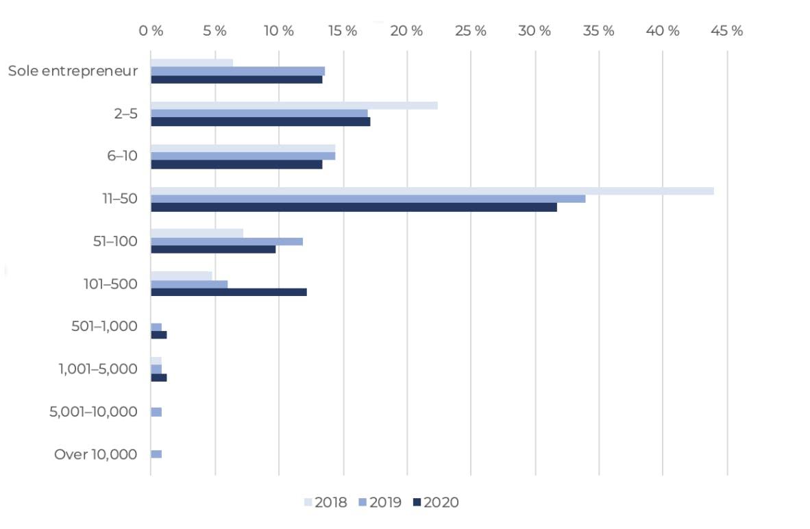 Drupal Business Survey 2020 Company Size