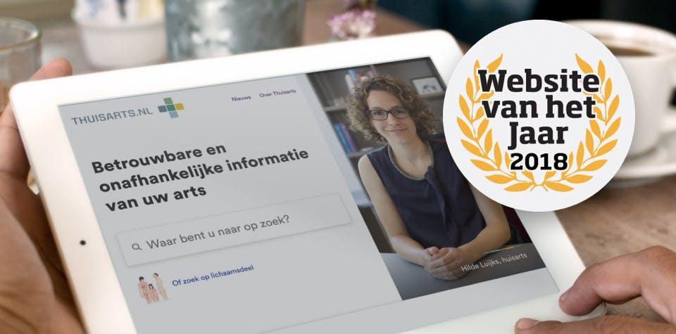 Website van het Jaar Award 2018 voor Thuisarts