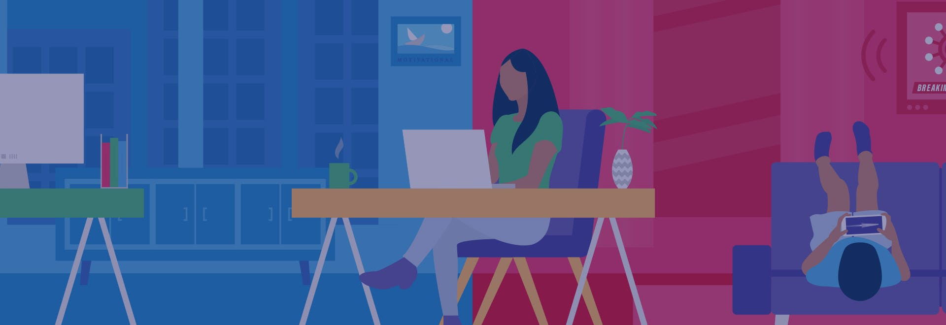 Working from home graphic