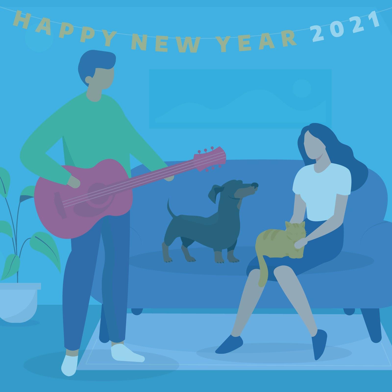 2021 New Year graphic