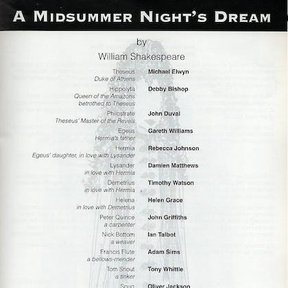 Rachel Kavanaugh in A Midsummer Night's Dream