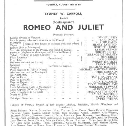 Hedley Mattingly in Romeo and Juliet