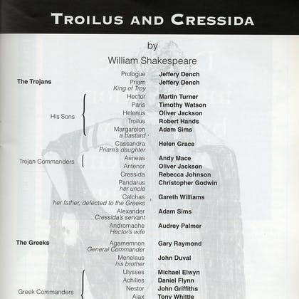 Jason Taylor in Troilus and Cressida