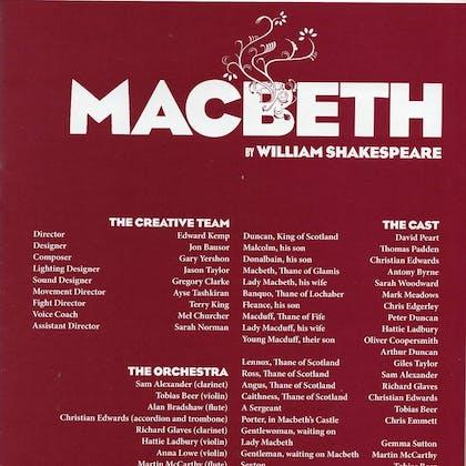 Jason Taylor in Macbeth
