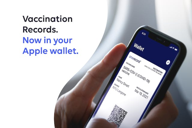 OneRecord Delivers Vaccine Wallet Pass Nationwide