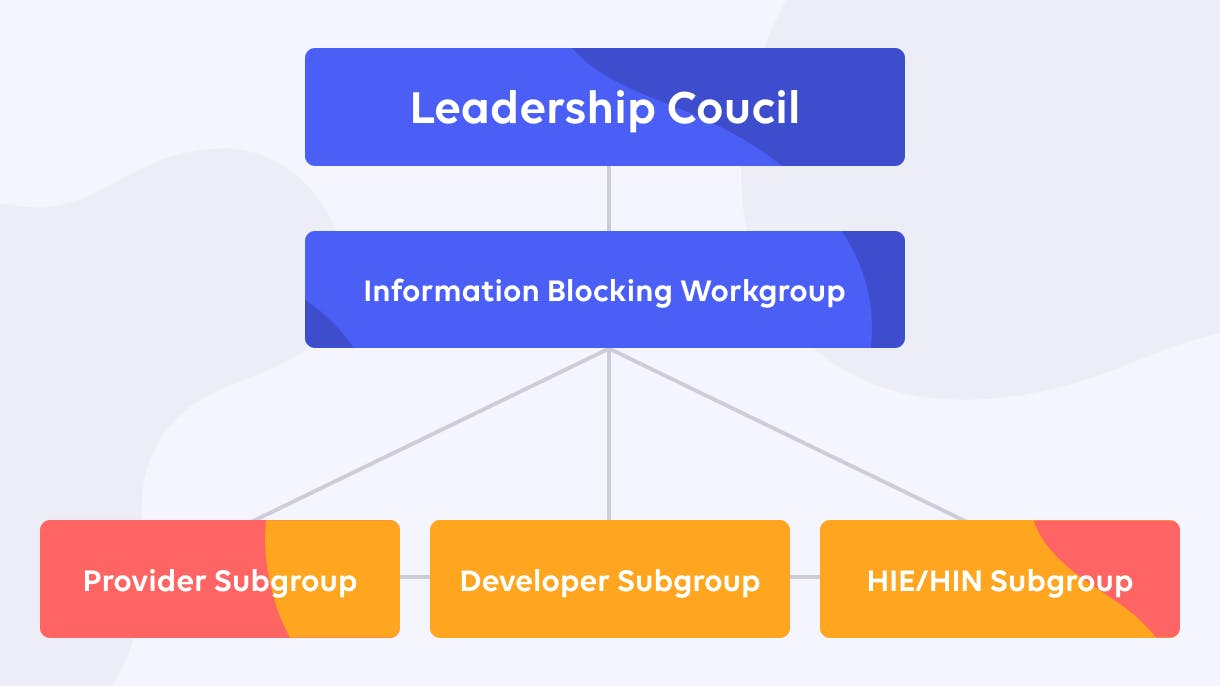 Sequoia Project Information Blocking Workgroup Diagram
