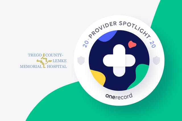 Trego County Lemke Memorial Hospital OneRecord Provider Spotlight Medallion