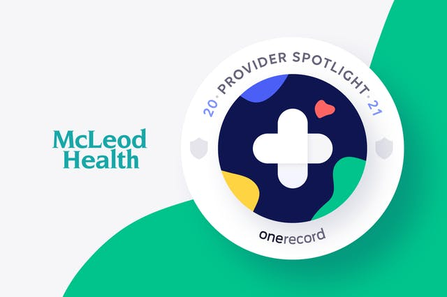 McLeod Health OneRecord Provider Spotlight Medallion