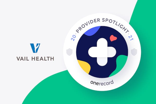 Vail Health OneRecord Provider Spotlight Medallion