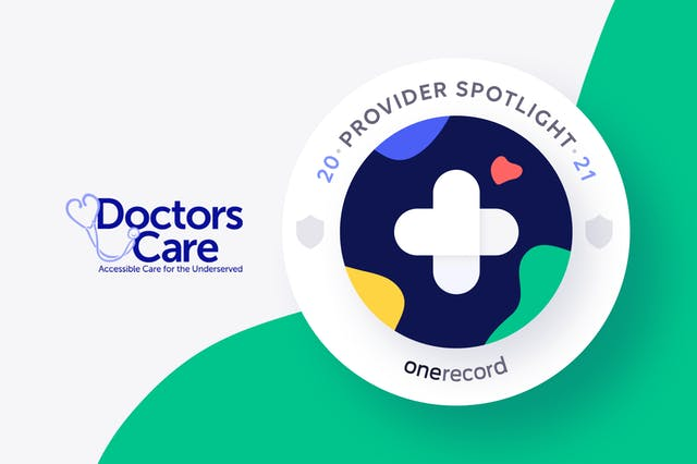Doctors Care OneRecord Provider Spotlight Medallion