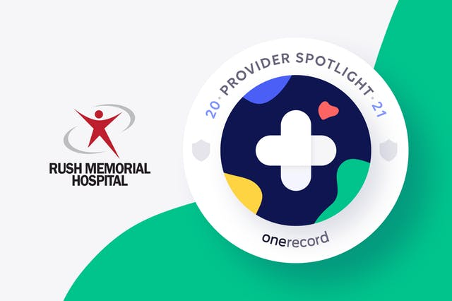 Rush Memorial Hospital OneRecord Provider Spotlight Medallion
