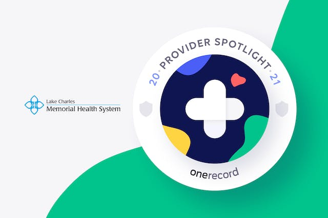 Lake Charles Memorial Health System OneRecord Provider Spotlight Medallion