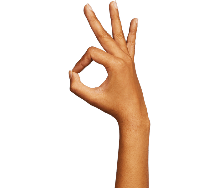 Hand giving the OK sign