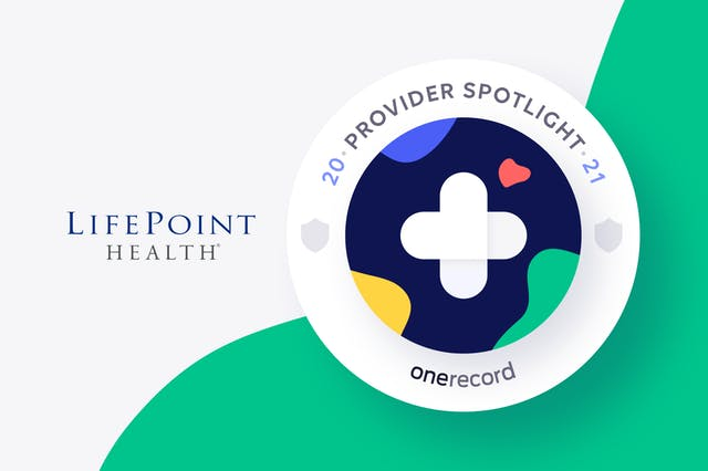 LifePoint Health OneRecord Provider Spotlight Medallion