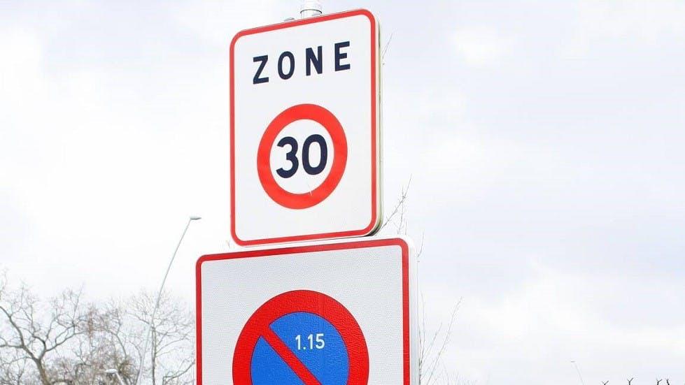 Panneau d'entree dans une zone 30