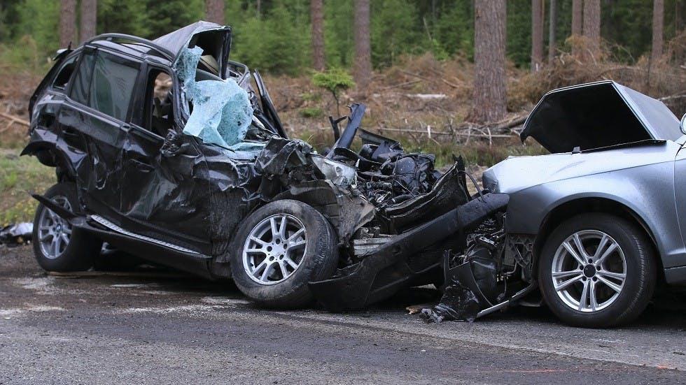Collision entre deux automobiles