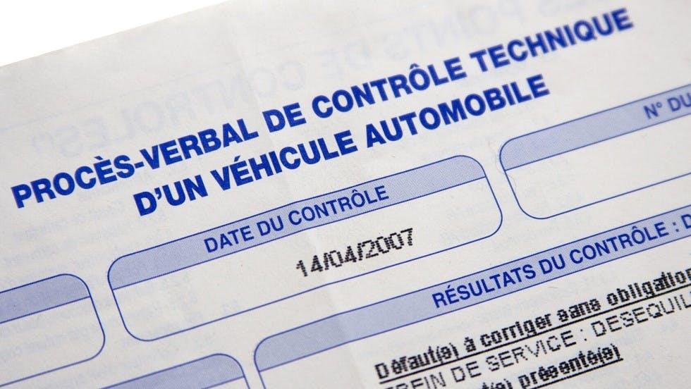 proces-verbal controle technique d'une automobile
