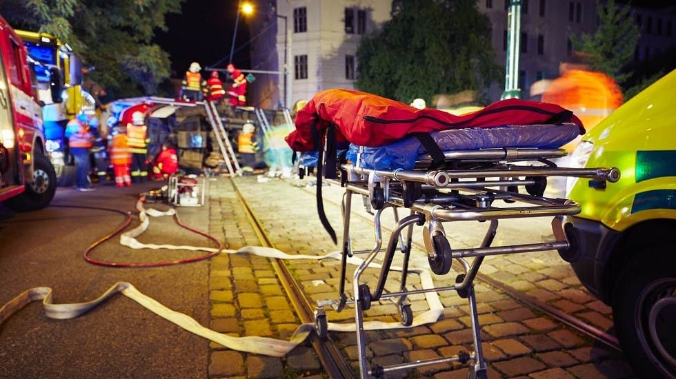Accident de la route et intervention des secours