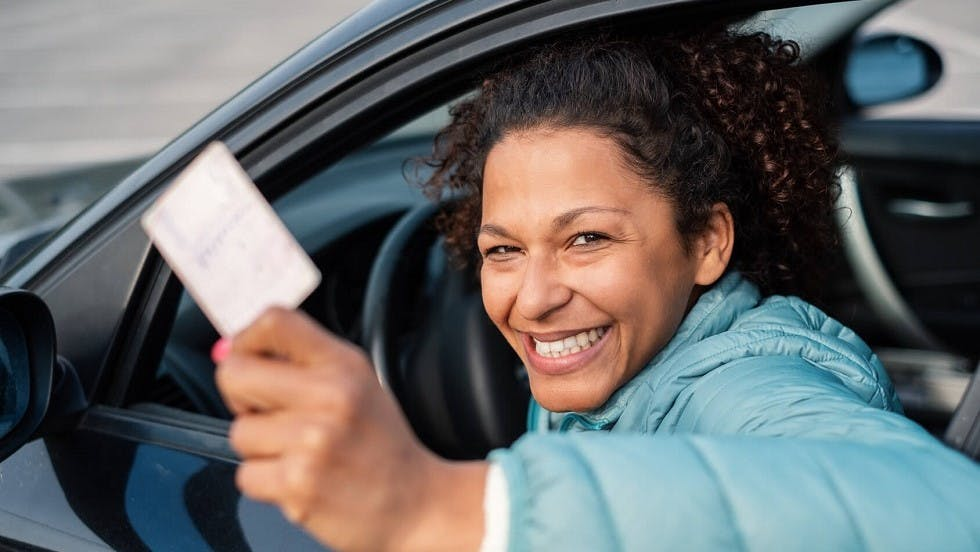 Candidate ayant obtenu son permis de conduire