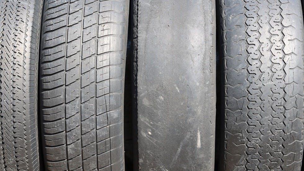 exemple de pneumatiques abimes