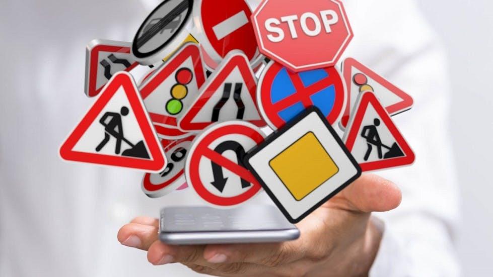 Révisions du code de la route sur smartphone