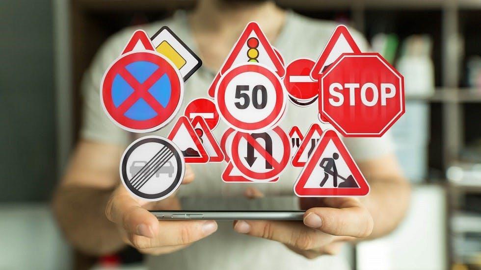 Formation au code de la route en ligne realisee sur tablette