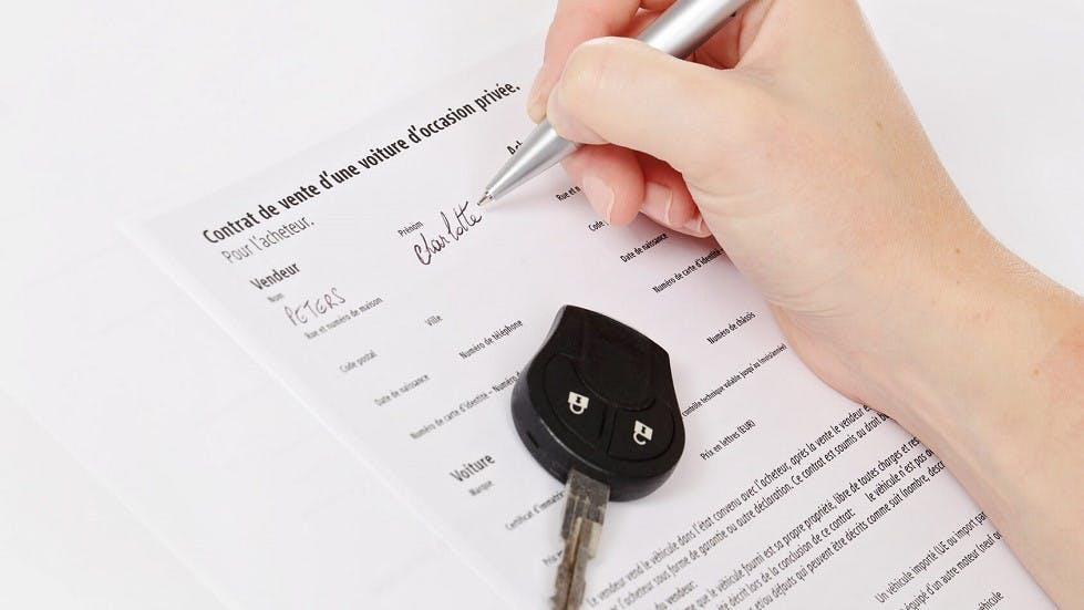 Contrat de vente d'un vehicule d'occasion