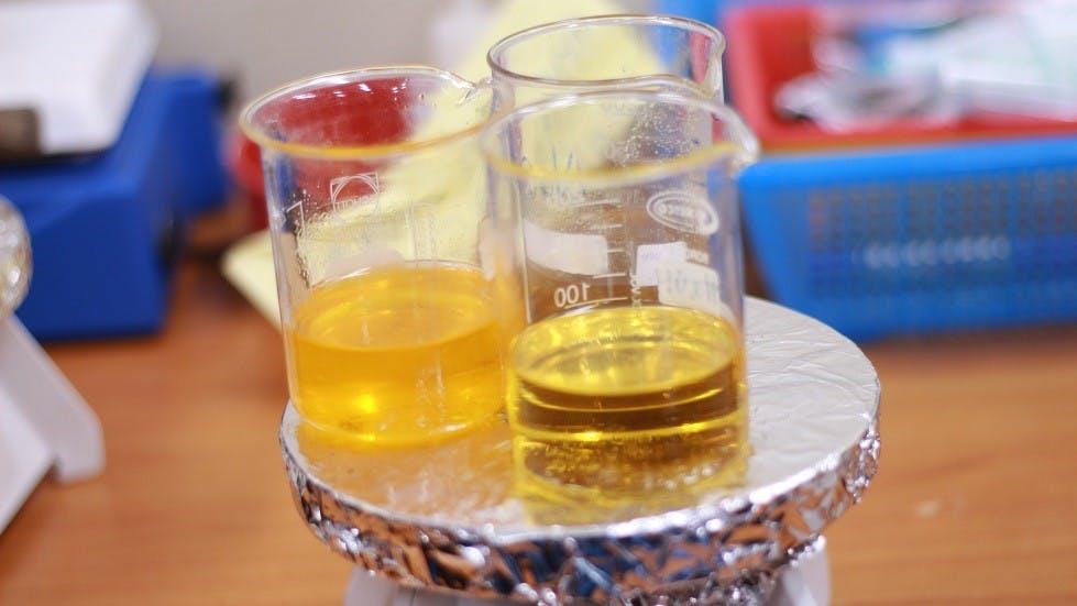Tests realises en laboratoire sur des biodiesel