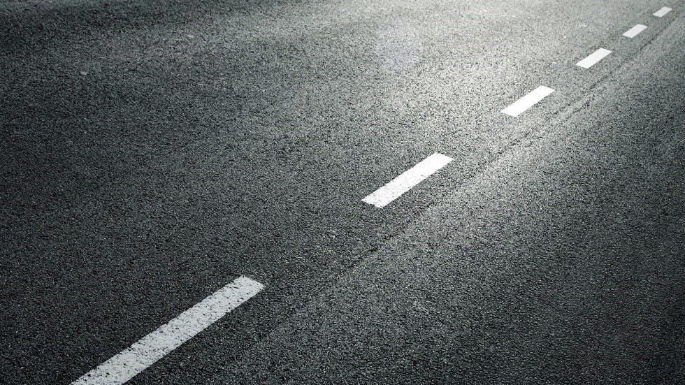 Revetement de route en asphalte neuf