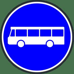 Panneau de debut de voie reservee aux transports en commun