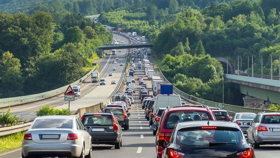 Embouteillage important sur une autoroute