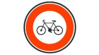 Panneau acces interdit aux cycles