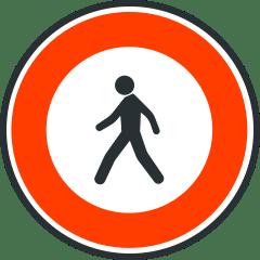 Panneau d'acces interdit aux pietons