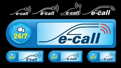 Différents symboles relatifs au système e-call.