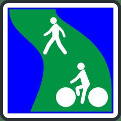 Panneau de debut de voie verte