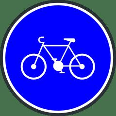 Panneau de bande ou piste cyclable obligatoire