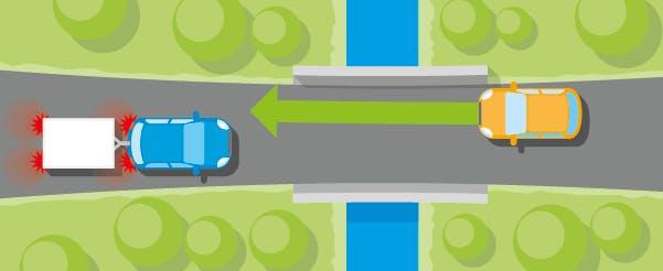 Règles de croisement au niveau d'un pont