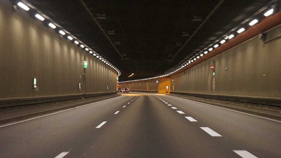 Circulation a l'interieur d'un tunnel
