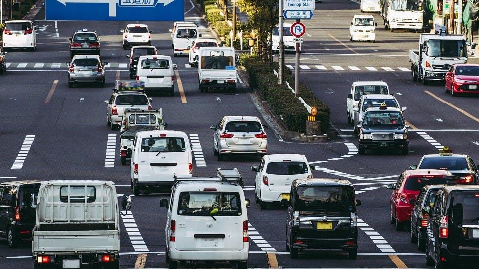 Usagers circulant a gauche au Japon
