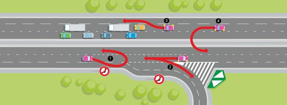 manoeuvres interdites sur autoroute