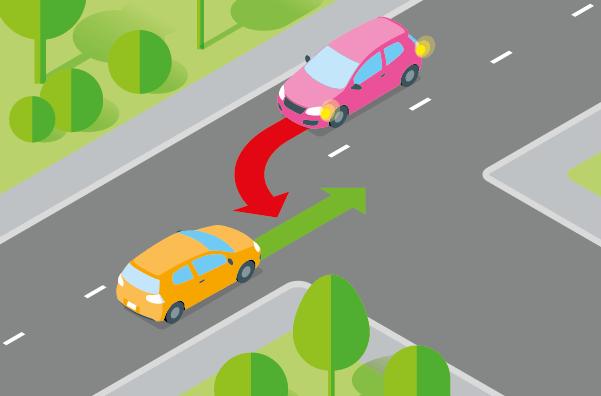 Croisement d'une voiture : qui a la priorité ?