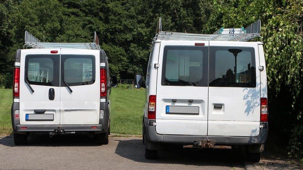 Arrieres de véhicules utilitaires