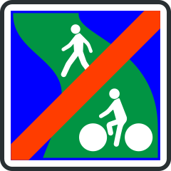 Panneau de fin de voie verte