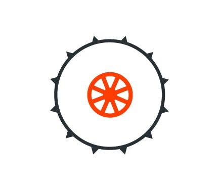 Disque de pneu cloute